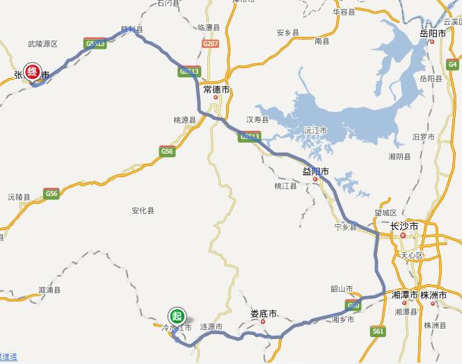 韶山风景区旅游线路图